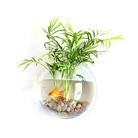 Diy Flower Vase (Home Decoration Wall Mount Fish Tanks Goldfish Bowl Acrylic Hanging Aquariums Flowerpot Flower)