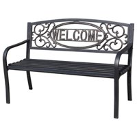 Imperial Power 211932 Four Seasons Welcome, Stainless steel Park Bench