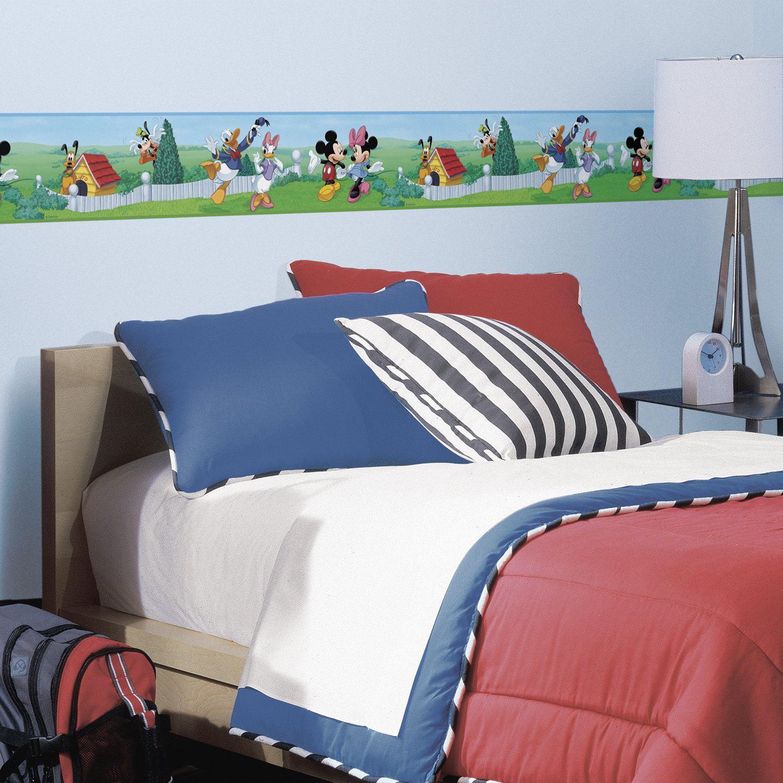Disney Peel & Stick Wall Border Mickey & Friends Walmart