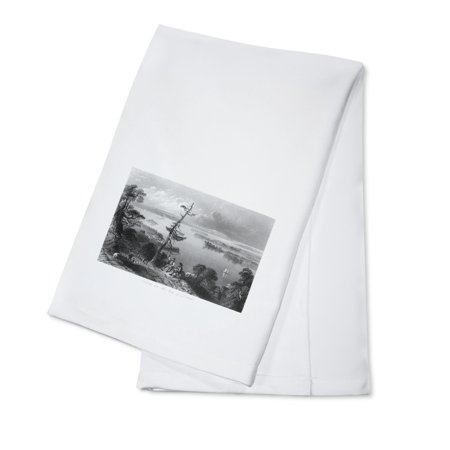 Canadian Dish (Ontario, Canada - Scenic View by the Bay of Quinte (100% Cotton Kitchen Towel) )