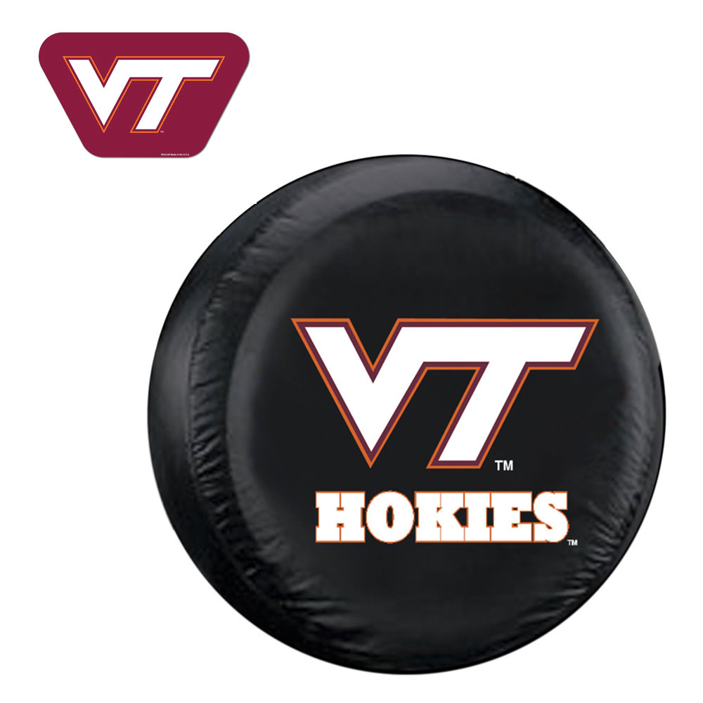 Internet Fulfillment Services IFS-COL-VTH-TCGOGO-L Virginia Tech Hokies Ncaa Spare Tire Cover And Grille Logo Set [large]
