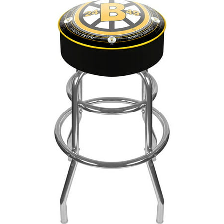 "Trademark Global NHL Throwback Boston Bruins 31"" Padded Bar Stool by"