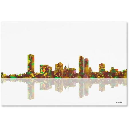 Trademark Fine Art   Milwaukee Wisconsin Skyline   Canvas Art By Marlene Watson