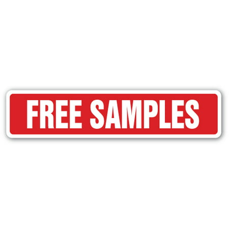 FREE SAMPLES Street Sign Decal giveaways sampler consumer product freebie | Indoor/Outdoor |  9