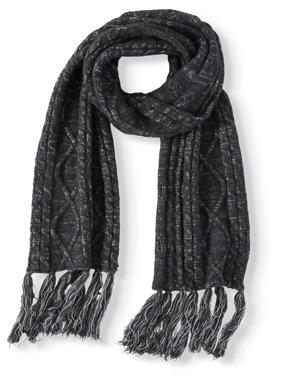 Time and Tru Cable Oblong Scarf