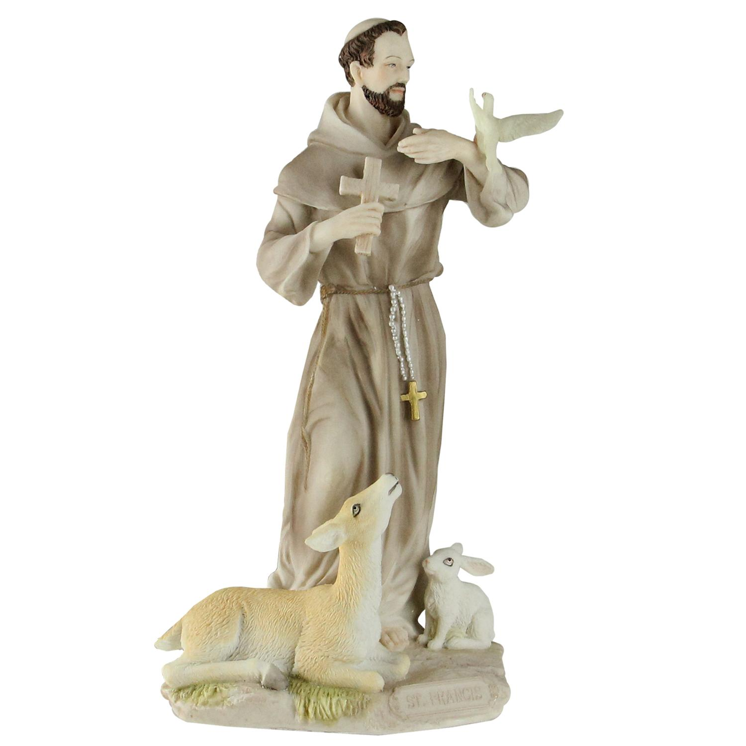 """8.5"""" Galleria Divina Religious St. Francis of Assisi with Animals Figure - image 1 of 1"""