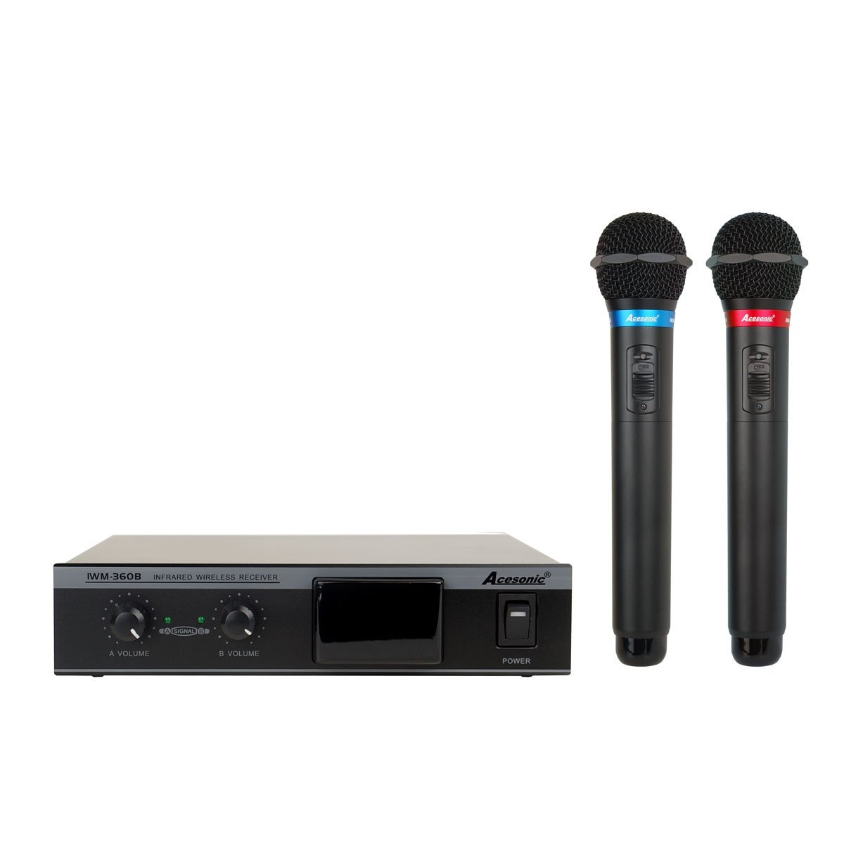 Acesonic Dual Wireless Rechargeable Karaoke Microphone System by Acesonic