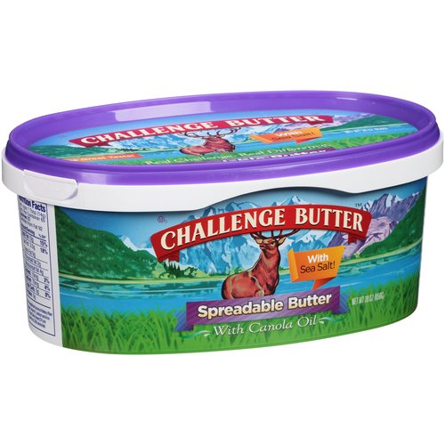 Challenge Butter Spreadable Butter with Canola Oil, 30 oz
