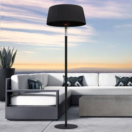 Shade E-Line 7 Foot Electric Heater Lamp with Remote, Black, Electric 110v / 220v ()
