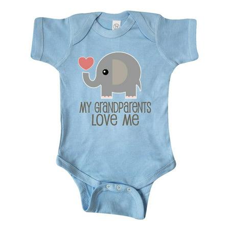 My Grandparents Love Me Elephant Infant Creeper - Baby Grandparents Halloween