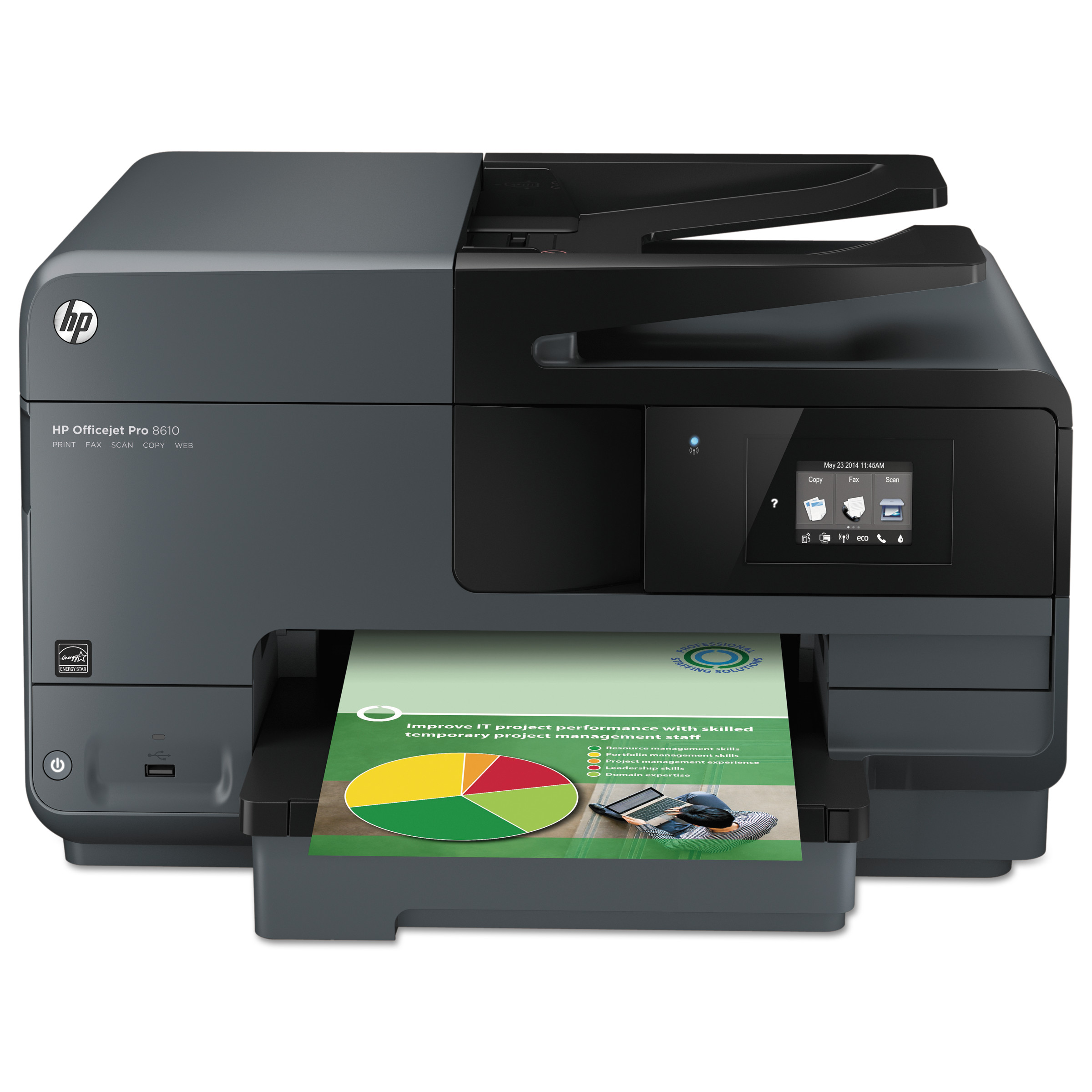 HP Officejet Pro 8610 e-All-in-One Wireless Inkjet Printer, Copy/Fax/Print/Scan