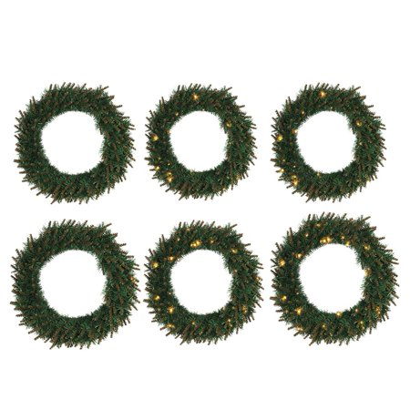 Christmas Green PVC Garland Warm Color Light Decorative Door Hanging Shop Hotel Window Decoration ()