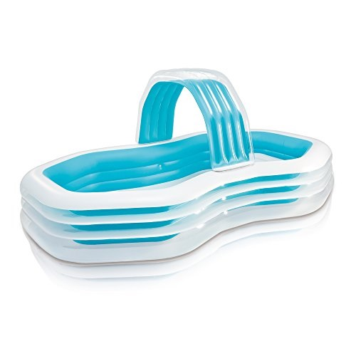 Intex Inflathle Swim Center Family and Kids Chana Pool with Water Sprayer