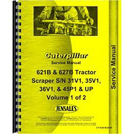 For Caterpillar 621B Scraper Service Manual  New