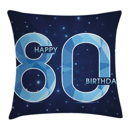 Ambesonne Birthday Party Theme with Stars Square Pillow Cover - Movie Star Theme Party