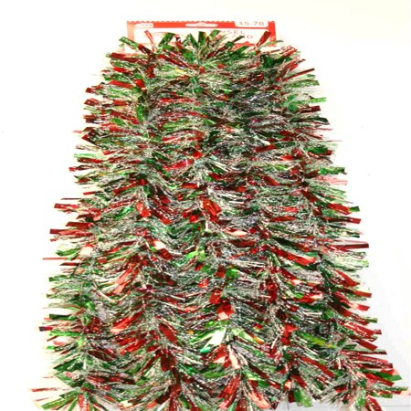 15 Wide Cut Red Green And Snowstorm Christmas Garland