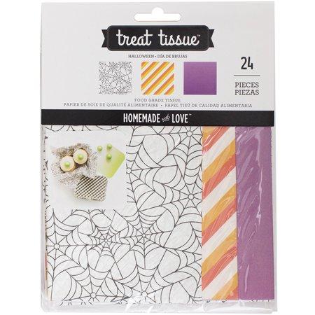 Homemade With Love Food Craft Tissue 24/Pkg-Halloween (Halloween Craft Prek)