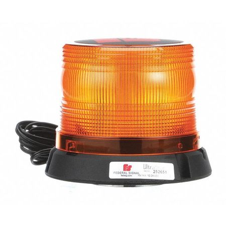 LED Beacon Light,Mag Mount,Amber FEDERAL SIGNAL 252651-02