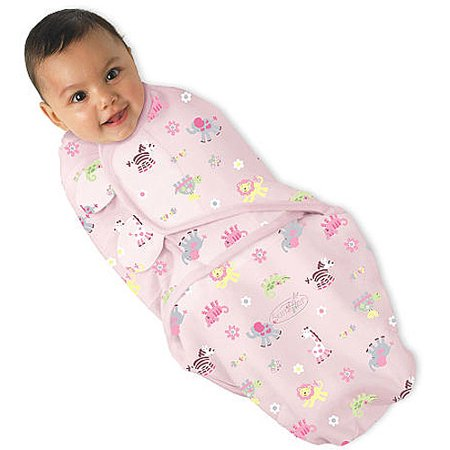 Kiddopotamus by Summer Infant SwaddleMe Blanket - Jungle Chic (Small / Medium)