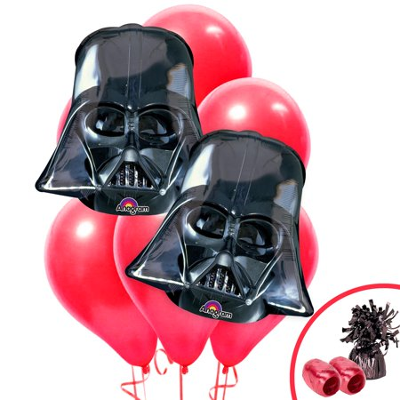 Darth Vader Party Supplies (Star Wars Darth Vader Jumbo Balloon Bouquet)