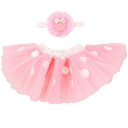 Disney Baby Girls Minnie Mouse Dress Up Headwrap and Tutu Set - Girls Dress Up Tutu