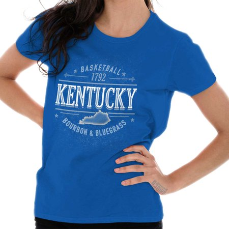 Brisco Brands Kentucky Bourbon Bluegrass Team Adult Short Sleeve T-Shirt ()