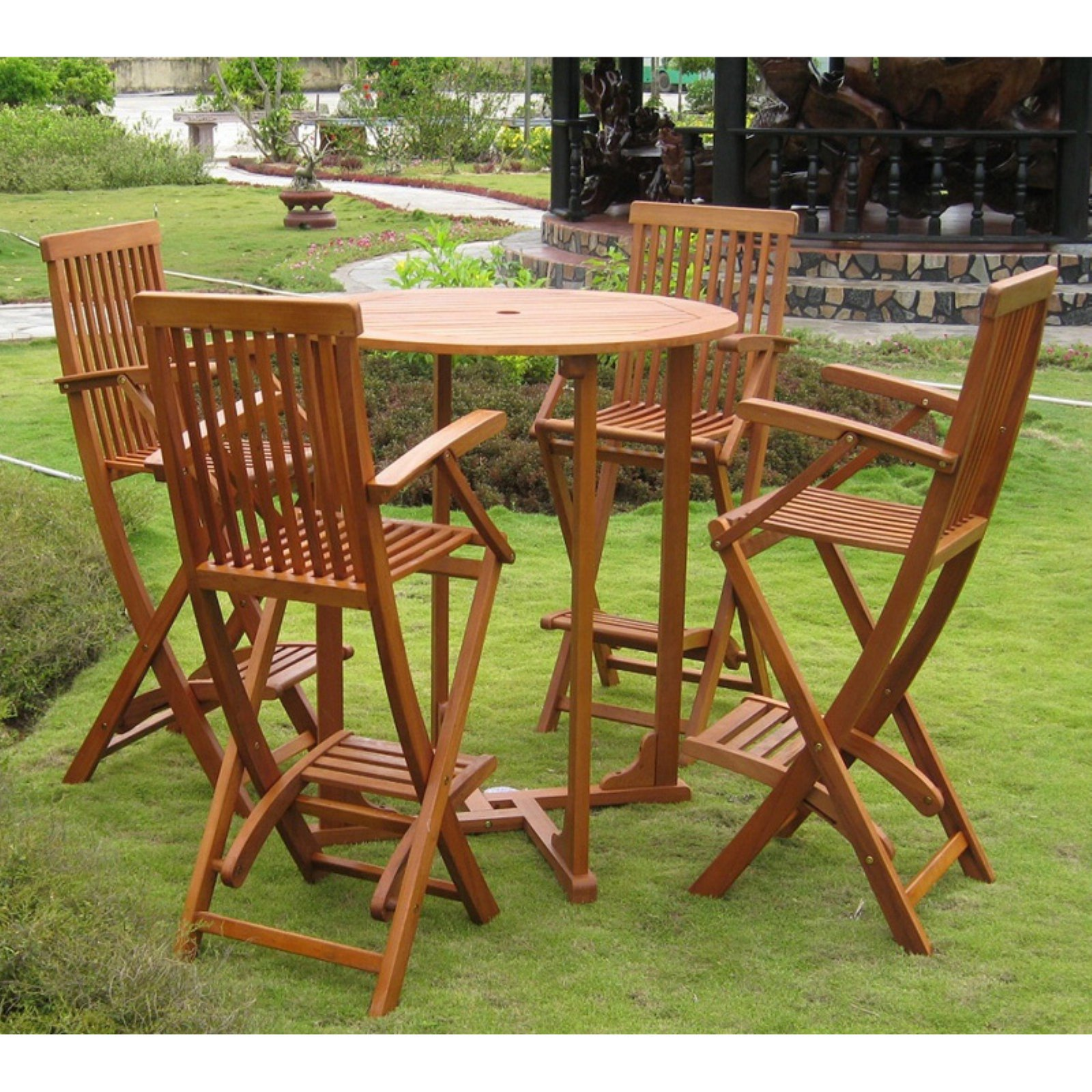International Caravan Royal Tahiti Lugo Bar Height Dining Set