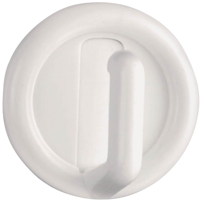 Stanley Hardware 752014 White Self Adhesive Single Hooks, 4 Count