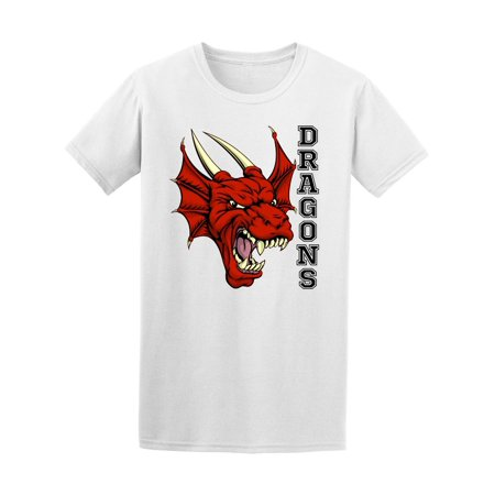 Team Mascot - Red Dragon Sports Team Mascot Tee Men's -Image by Shutterstock