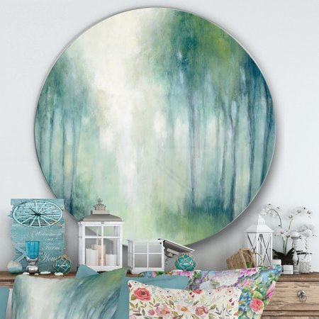 Designart 'Walk in the Forest' Farmhouse Metal Circle Wall Art - image 1 of 3
