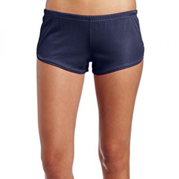 Soffe Juniors Mesh Teeny Tiny Short, Navy, Medium