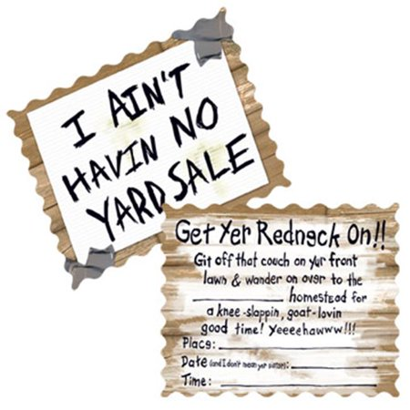 Redneck Wedding Party Invitations 24 with Envelopes - Invitation Wording Ideas For Halloween Party
