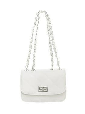 Unique Bargains Women's Turn-Lock Clasp Argyle Iterior Zipper Pocket Shoulder Bag