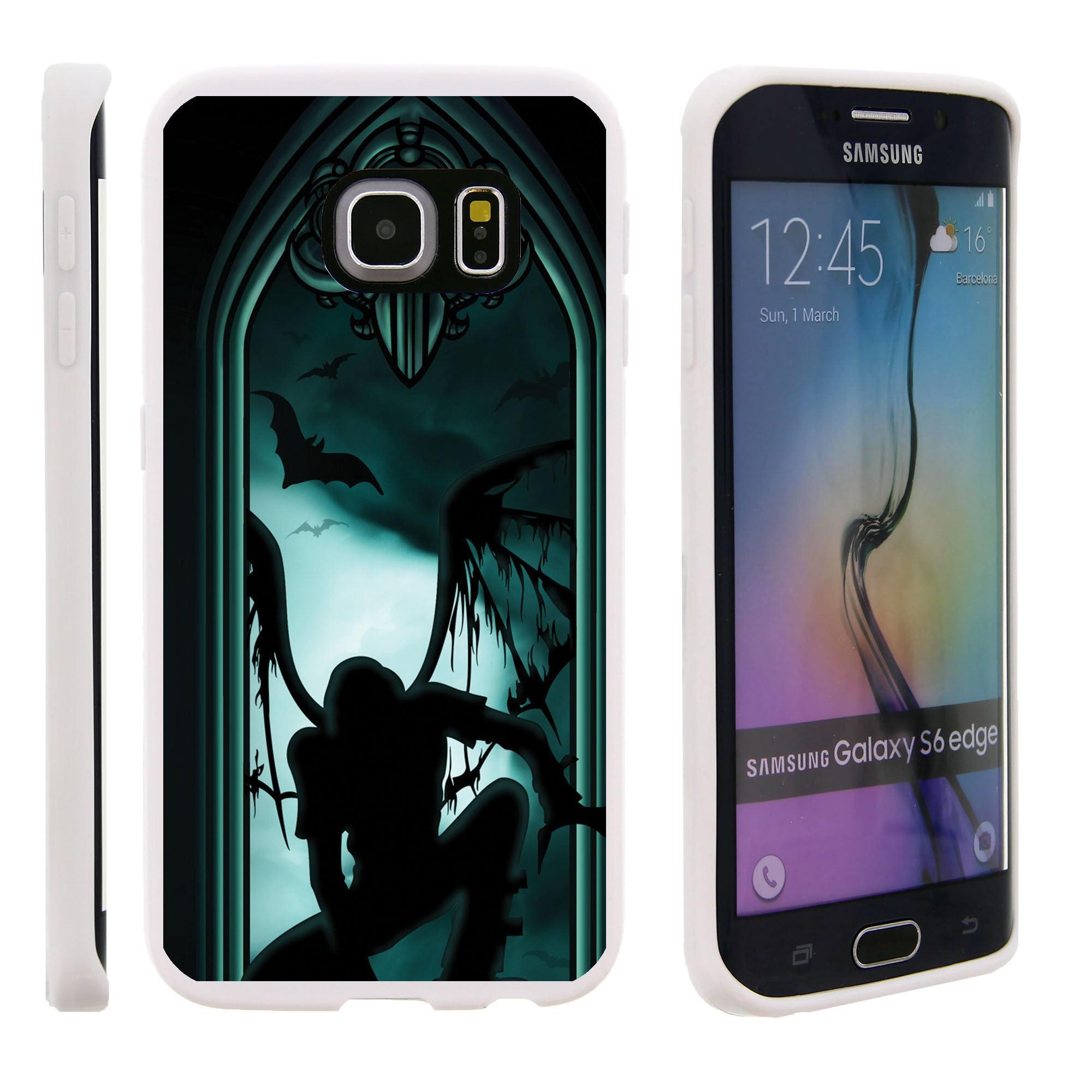 Samsung Galaxy S6 Edge G925, Flexible Case [FLEX FORCE] Slim Durable TPU Sleek Bumper with Unique Designs - Person in the Dark