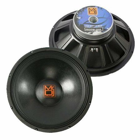 Mr. Dj USA PRODW2000 Subwoofer, Black Replacement for OEM (Dj Replacement)