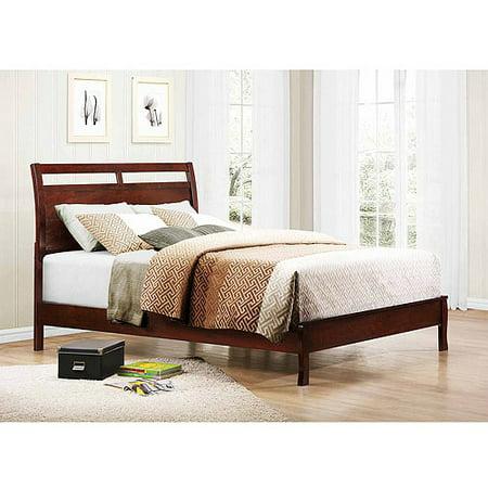 Abigail Full Platform Bed, Warm Brown Cherry