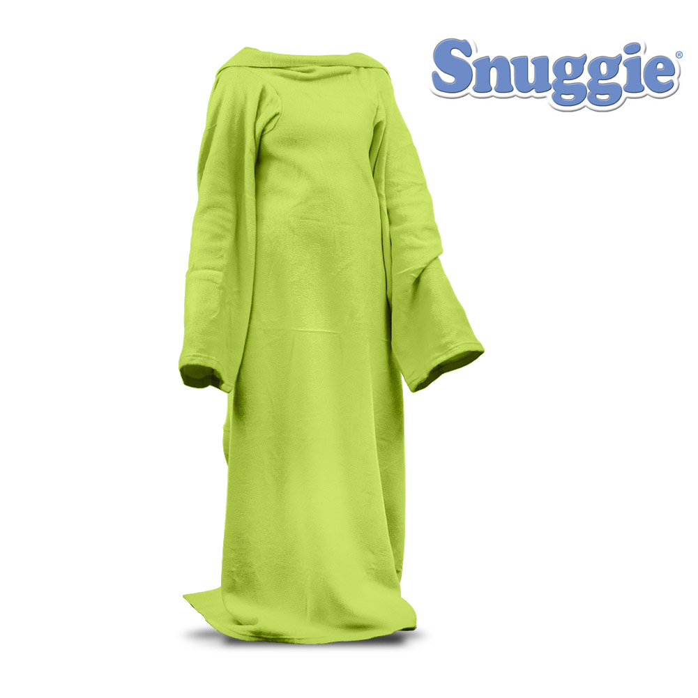 Snuggie 280005 Snuggie Neon Green Blanket With Sleeves For