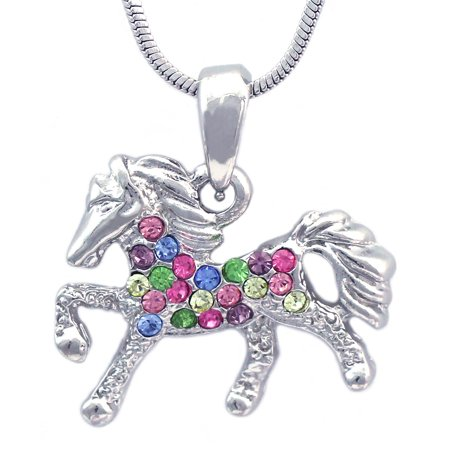 cocojewelry Small Horse Pony Pegasus Pendant Necklace Girl Jewelry
