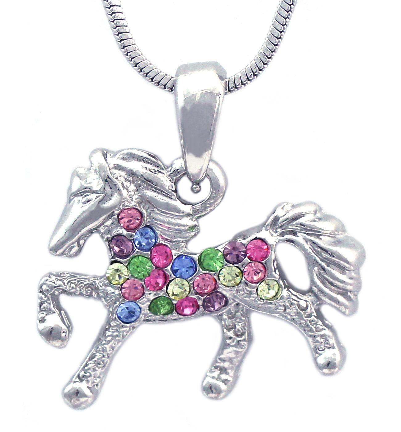 cocojewelry Small Horse Pony Pegasus Pendant Necklace Girl Jewelry