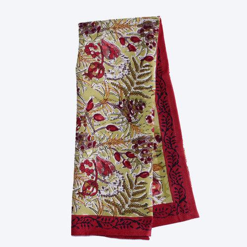 Couleur Nature Winter Garden Wreath Red Green Tea Towel (Set of 3)
