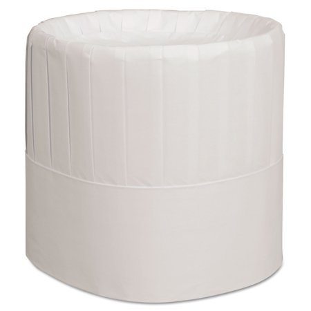 Pleated Chef's Hats, Paper, White, Adjustable, 7 in. Tall, 28/Carton for $<!---->