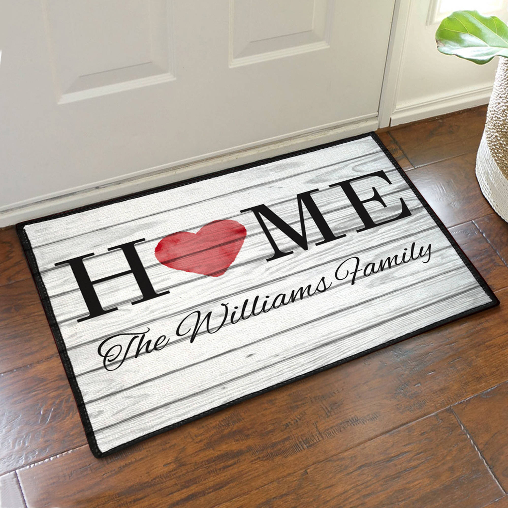 "Personalized Family Home Doormat, 19.5"" x 15.5"""