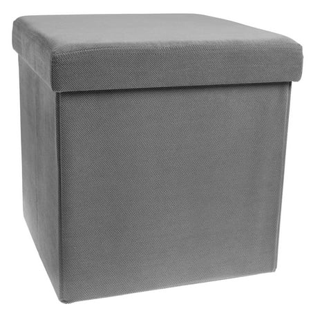 Storage Ottoman Cube Folding Fabric Square Foot Rest Coffee Table Collapsible With Lift Top