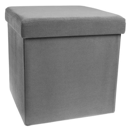 Storage Ottoman Cube Folding Fabric Square Foot Rest Coffee