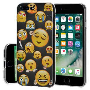 iPhone 7 Plus Case, Soft Gel Clear Emoji TPU Back Case Impact Defender Skin Cover iPhone 7 Plus -Mixed Emotions 2