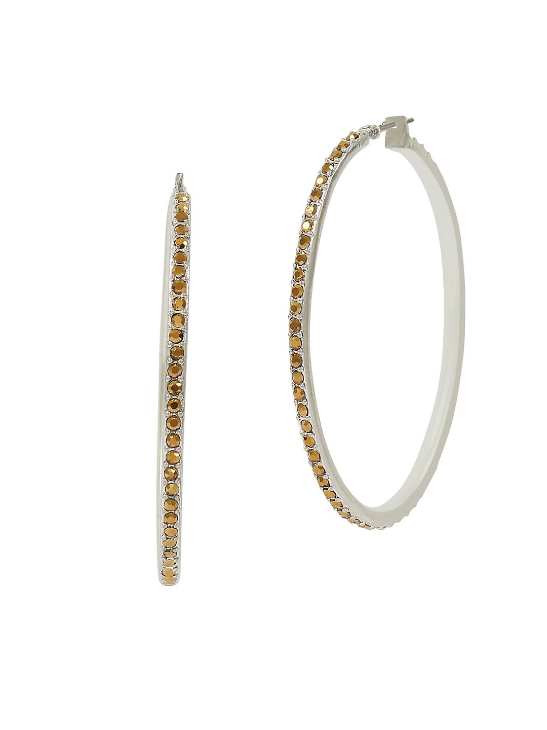 Modern Opulence Pave Hoop Earrings