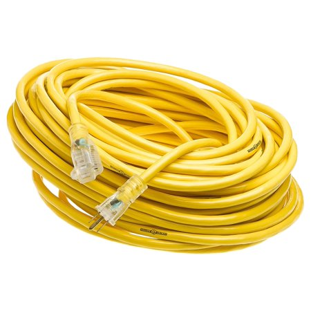 Yellow Jacket 2885 12 3 Heavy Duty 15 Amp Sjtw Contractor Extension Cord With Lighted Ends  100 Feet