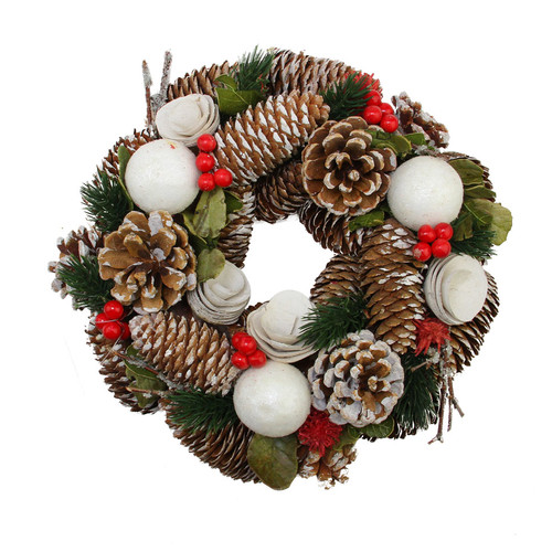 Northlight Seasonal Pine Cone, Twigs and Berries Artificial Christmas Wreath