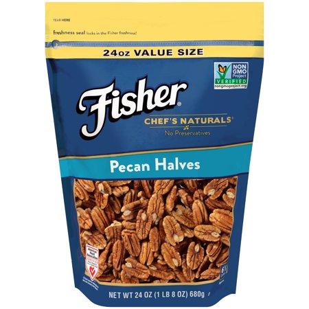 Fisher Chefs Naturals Pecans Halves  24 Oz