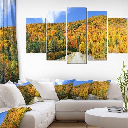 Stowe Countryside View Panorama - Landscape Canvas Art Print - image 3 de 3